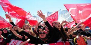 Cumhur İttifakı'nın Ortak Mitinginde Binlerce Vatandaş Alanı Doldurdu