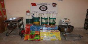Baskın Yapılan Depolarda Kaçak Nargile Tütünü Ele Geçirildi