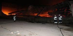 Narenciye paketleme tesisinde yangın