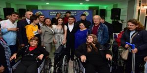 Farkındalık Etkinliğinde 26 Kişiye Tekerli Sandalye Hediye Edildi