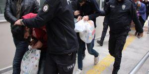 Öcalan lehine slogan atan 7 kişi tutuklandı