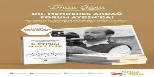 Menderes Akdağ, Yeni Kitabını Forum Aydın'da İmzalayacak