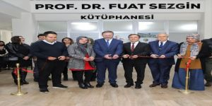 Erü'de Prof. Dr. Fuat Sezgin Kütüphanesinin Açılışı Yapıldı
