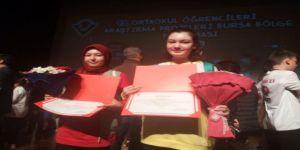 Gediz Mehmetçik Ortaokulu'nun Proje Başarı