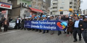 Şırnak'ta Otizm Farkındalık Yürüyüşü Yapıldı