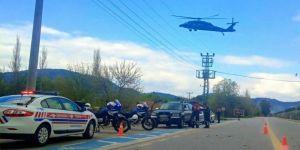 Jandarma'nın Helikopterli Trafik Denetimleri Sürüyor