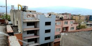 Osmangazi'de Riskli Bölgede Yıkımlar Devam Ediyor
