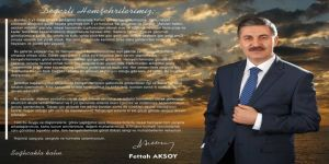 Başkanı Aksoy'dan Veda Mesajı