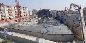 Gebze'nin yeni otoparkının yapım çalışmaları sürüyor