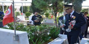 Polis teşkilatından şehitliğe ziyaret