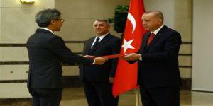 Erdoğan, Singapur Büyükelçisini kabul etti