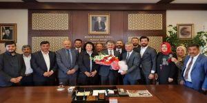 Ak Parti Ve Mhp İlçe Teşkilatından Başkan Yılmaz'a Hayırlı Olsun Ziyareti