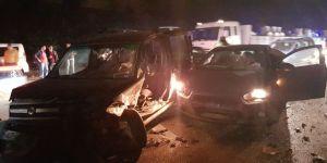 Bursa'da Zincirleme Kaza: 2 Yaralı