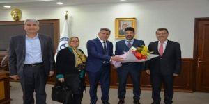 Köşk Belediye Başkanı Güler, Rektör Bircan'ı Ziyaret Etti