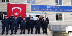 Devrek Jandarma Personelinden İlçe Emniyetine Ziyaret