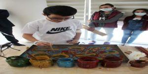 Tedavi Görürken Ebru Sanatını Öğrendiler