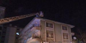 Başkentte 4 Katlı Apartmanda Yangın