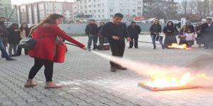 Öğretmenlere Yangın Eğitimi
