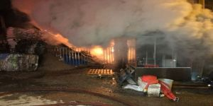 Başkent'te Talaş Atölyesi Alev Alev Yandı