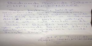 Başkan Atay'ı Duygulandıran Mektup