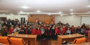 İlkokul öğrencilerinden Karaman Belediyesine ziyaret