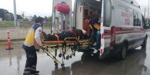 Otomobil İle Akülü Bisiklet Çarpıştı: 1 Yaralı