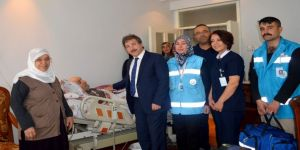 Evde Sağlık Hizmeti Alan Hastalar İçin Hayata Geçirilen Proje Aileleri Memnun Etmeye Devam Ediyor