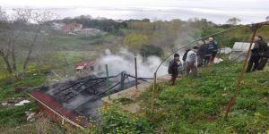 Sinop'ta Ahır Yangını: 5 Hayvan Telef Oldu