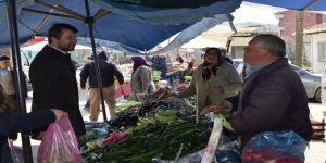 Başkan Demirci Pazar Esnafını Ziyaret Etti