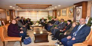 Başkan Çelik, Kaymakam Çaykara Ve Kurum Müdürlerini Ağırladı