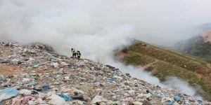 Alaşehir Çöplüğünde Yangın