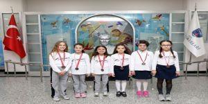 SANKO Okulları jimnastik takımı il üçüncüsü oldu