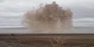 Patlama Sonrası Adeta Şelale Oluştu