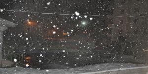 Lapa lapa yağan kar yağışı şaşırttı