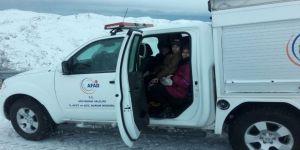 Nemrut'ta Mahsur Kalan Aileyi Afad Kurtardı