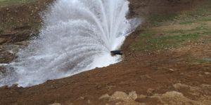 Siirt'te Heyelan Sonucu Su İsale Hattı Tahrip Oldu