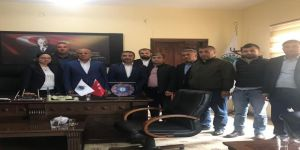 Sağlık-sen'den Çalışkan Belde Belediye Başkanı Tosun'a Tebrik Ziyareti