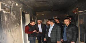 Başkan Çelik'ten Evi Yanan Aileye Ziyaret