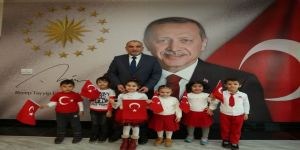Başkan Sandıkçı Çocukları Ağırladı
