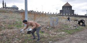 Tarihi bölgede bahar temizliği