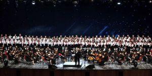 250 Kişilik Çocuk Orkestrası Hayran Bıraktı