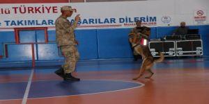 JAKEM'in eğitimli köpekleri 23 Nisan kutlamalarına damga vurdu