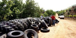 Atık Araç Lastikleriyle İstinat Duvarı