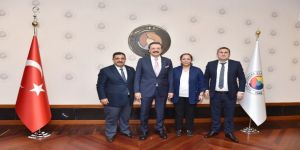 TATSO heyetinden TOBB Başkanı Hisarcıklıoğlu'na ziyaret