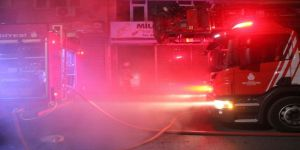 İş yerinde korkutan yangın