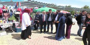 Beyşehir'de El Emeği Kadınlar Pazarı Kuruldu