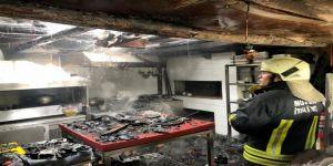 Karabağlar Yaylasında İşyeri Yangını