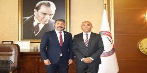 Emniyet Müdürü Şahne'den Baro Başkanı Yeşilboğaz'a Ziyaret
