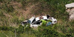 Cizre'de Otomobil Şarampole Yuvarlandı: 1 Polis Yaralı