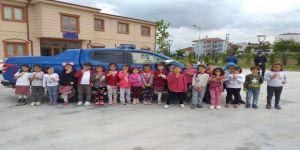 İlkokul Öğrencilerden Jandarma Karakoluna Ziyaret